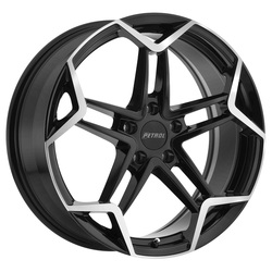 Petrol Wheels P1A - Gloss Black w/Machine Cut Face - 19x8