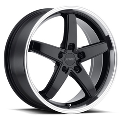 Petrol Wheels P1B - Gloss Black W/Machine Cut Lip - 19x8