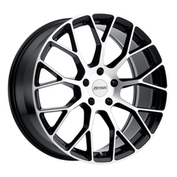 Petrol Wheels P2B - Gloss Black W/Machine Face - 19x8