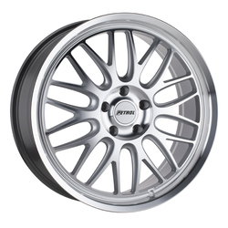 Petrol Wheels P4C - Silver w/ Machined Face and Lip Rim