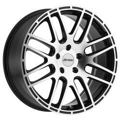 Petrol Wheels P6A - Gloss Black w/Machine Cut Face - 19x8