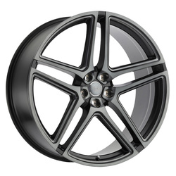 Redbourne Wheels Crown - Matte Black w/Machine Face & Dark Tint & Milling - 24x10