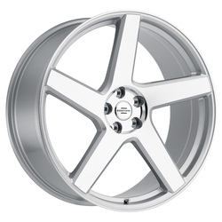 Redbourne Wheels Mayfair - Silver with Mirror Cut Face Rim - 22x10