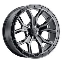 Redbourne Wheels Morland - Gloss Metallic Black/Brushed Tinted Face/Black Bolts Rim