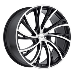 Redbourne Wheels Noble - Matte Black with Machine Face - 20x9.5