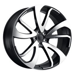 Redbourne Wheels Vincent - Gloss Black W/Mirror Cut Face Left Rim - 22x10.5