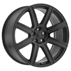 Redbourne Wheels Wilks - Matte Black with Gloss Black Face