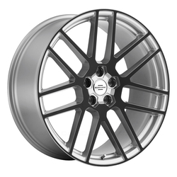 Redbourne Wheels Windsor - Silver with Gloss Black Face Rim