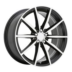 Ruff Wheels Burnout - Gloss Black with Machined Face Rim