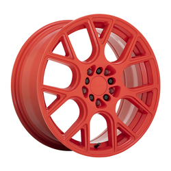 Ruff Wheels Drift - Gloss Red Rim - 17x7.5