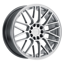 Ruff Wheels Overdrive - Hyper Silver Rim - 17x7.5