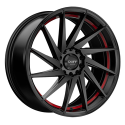 Ruff Wheels R363 - Satin Black with Red Pin