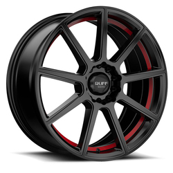 Ruff Wheels R366 - Satin Black with Red Pin Rim