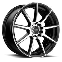 Ruff Wheels R366 - Satin Black with Machined Face Rim