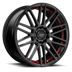 Ruff Wheels R367 - Satin Black with Red Pin Rim