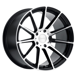 Ruff Wheels RS2 - Gloss Black with Machine Face Rim
