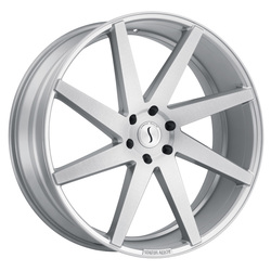 Status Wheels Brute - Silver with Brushed Machine Face Rim - 24x9.5