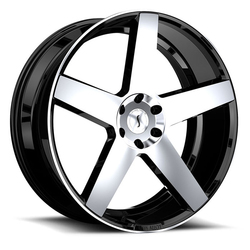 Status Wheels Empire - Gloss Black with Machined Face Rim - 24x9.5
