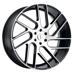 Status Wheels Juggernaut - Gloss Black with Machined Face Rim