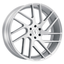 Status Wheels Juggernaut - Silver with Brushed Machine Face Rim - 24x9.5