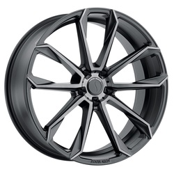 Status Wheels Mastadon - Graphite (Matte Black w/Machine Face & Dark Tint) Rim - 26x10