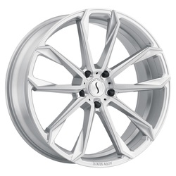 Status Wheels Mastadon - Silver with Brushed Machine Face Rim - 24x9.5