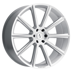 Status Wheels Zeus - Silver W/Brushed Face Rim - 26x10