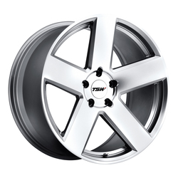 TSW Wheels Bristol - Silver W/Mirror Cut Face Rim - 22x10.5