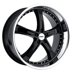 TSW Wheels Jarama - Gloss Black W/Mirror Cut Lip - 19x8
