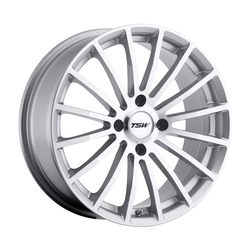 TSW Wheels Mallory - Silver W/Mirror Cut Face Rim - 17x7