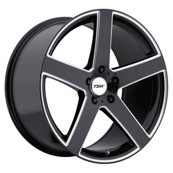 TSW Wheels Rivage - Gloss Black W/Milled Spoke - 19x8