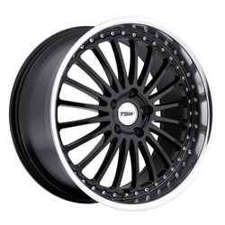 TSW Wheels TSW Wheels Silverstone - Gloss Black W/Mirror Cut Lip - 19x8