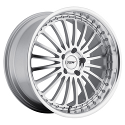 TSW Wheels Silverstone - Silver W/Mirror Cut Face & Lip - 19x8