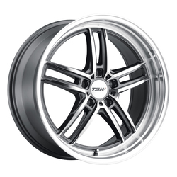 TSW Wheels Suzuka - Gloss Gunmetal W/Mirror Cut Face & Lip - 19x8.5