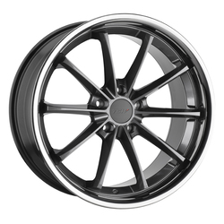 TSW Wheels Sweep - Gloss Gunmetal with Stainless Lip Rim
