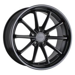 TSW Wheels Sweep - Matte Black w/ Gloss Black Lip Rim