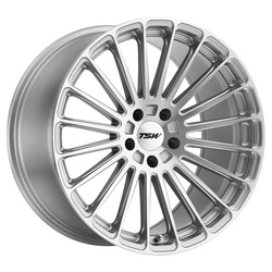 TSW Wheels Turbina - Titanium Silver W/Mirror Cut Face Rim - 22x10.5