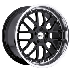 TSW Wheels TSW Wheels Valencia - Gloss Black W/Mirror Cut Lip - 19x8