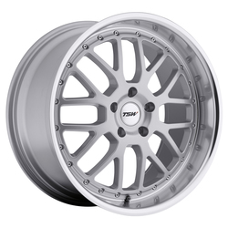 TSW Wheels TSW Wheels Valencia - Silver W/Mirror Cut Lip - 19x8