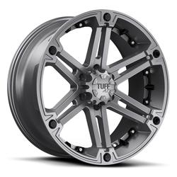 Tuff Wheels T01 - Satin Gunmetal with Black Inserts Rim