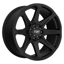 Tuff Wheels T05 - Flat Black with Machined Flange Rim