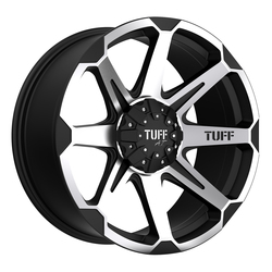 Tuff Wheels T05 - Flat Black with Machine Face