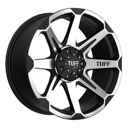 Tuff Wheels T05 - Flat Black with Machine Face Rim