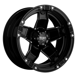 Tuff Wheels T10 - Gloss Black with Milled Spokes Rim