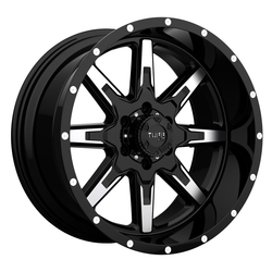 Tuff Wheels T15 - Gloss Black with Machined Face