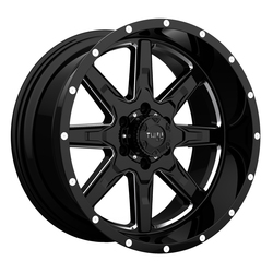 Tuff Wheels T15 - Gloss Black with Milled Spokes Rim