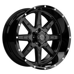 Tuff Wheels T15 - Satin Black with Gloss Black Lip - 18x10