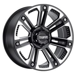 Tuff Wheels T22 - Gloss Black / Milled Spokes Rim