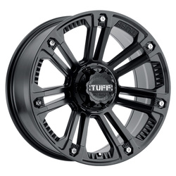 Tuff Wheels T22 - Matte black with Stainless Steel Bolts Rim