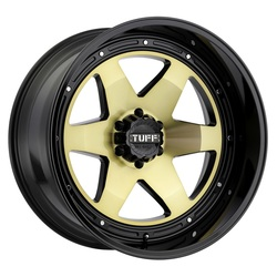 Tuff Wheels T1A - Gold with Gloss Black Lip - 24x12